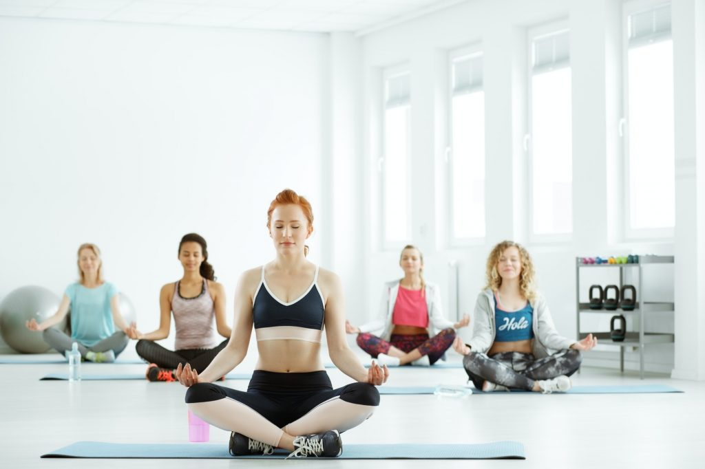 Women on yoga